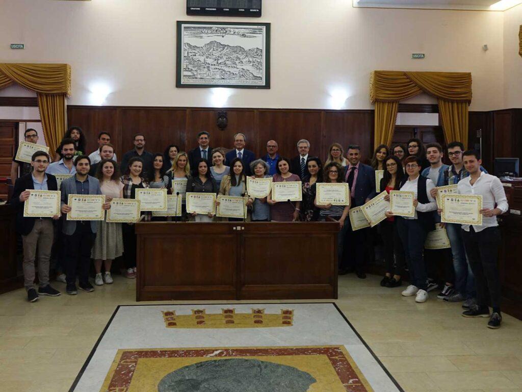 La cerimonia di consegna dei diplomi della scorsa edizione
